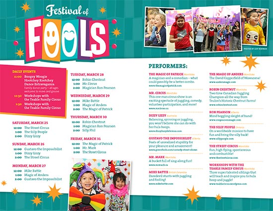 Festival of Fools Schedule - PDF